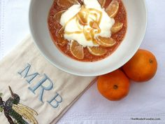 Food from the Aztec Gods: Chia Seed Porridge with Orange & Yogurt (model foodie)