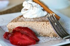 <p>Rich, soothing flavors of vanilla and cinnamon come together in a beautifully, textured cake that resembles a classic NY style cheesecake, due to the use of creamy coconut butter.</p>