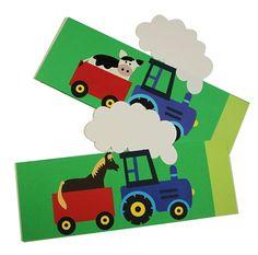 Tractor Verjaardagsmuts met paard of koe