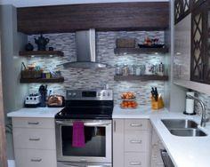 fotos de cozinhas planejadas pequenas com nichos na parede