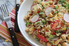 Quinoa Garden Salad with Lemon Basil Dressing