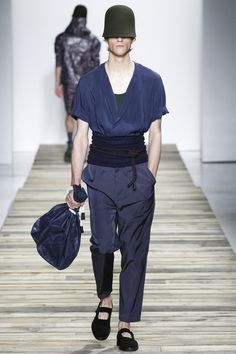 See the Robert Geller spring/summer 2016 menswear collection. Click through for full gallery