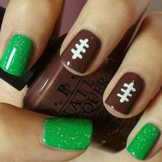 easy football nail design