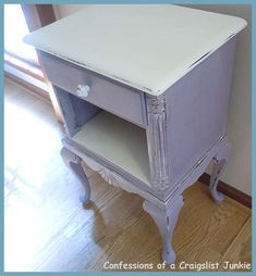 confessions of a craigslist junkie: Before and After - painted using Annie Sloan Chalk Paint in Emile (lavender) and Old White