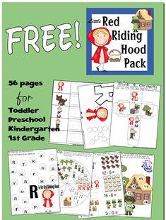 Free Red Riding Hood Preschool Pack