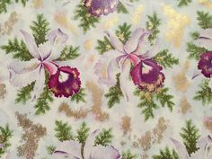 Vintage Gift Wrapping Paper  Purple Iris by TheGOOSEandTheHOUND, $18.00