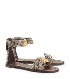 4672b1c8ace0 Visit Tory Burch to shop for Mignon Snake-print Rings Flat Sandal . Find  designer shoes