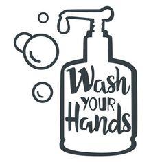 Silhouette Design Store: Wash Your Hands Bathroom Phrase Silhouette Cameo Projects, Silhouette Design, Silhouette Cameo Shirt, Bathroom Signs, Bathroom Wall Decals, Vinyl Projects, Cricut Design, Web Design, Store Design