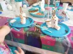 Looking for some ideas for a Frozen-themed party? Here are some of the things I did for my daughter's party. I made this slime like stuff as party favors. You can find the full instructions here: T...