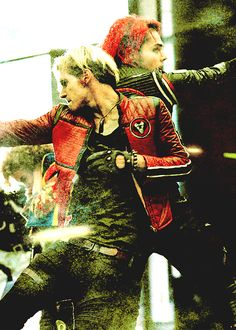 Mikey and Gerard Way back to back in the Sing video. I'm still sad that Gerard got shock in the jaw, I keep crying every time I see it!!!!!!