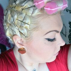 Vintage Style Hair Tutorial #1 - My Pin Curl Setting Pattern & Technique |Sugar, Darling?