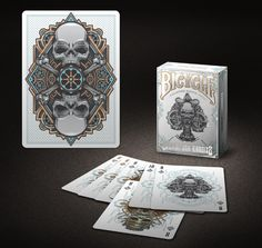 Bicycle Steampunk Bandits playing cards by Gambler's Warehouse on Kickstarter.  White Limited Edition Decks