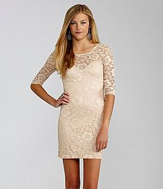 GB 34 Sleeve Lace Dress #Dillards $41 If only I were smaller in certain areas... :(