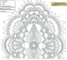 Oval Doilies in Natural Color Crochet Mandala Pattern, Crochet Chart, Filet Crochet, Irish Crochet, Knit Crochet, Crochet Patterns, Crochet Books, Crochet Home, Thread Crochet