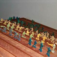 Wrangler Shirts, Army Men, Toy Soldiers, Old Toys, Vintage Toys, 1970s, Action Figures, Nostalgia, Beige