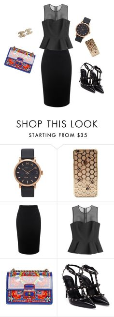 """""""Look for cool dinner"""" by gioppins ❤ liked on Polyvore featuring Marc Jacobs, Alexander McQueen, McQ by Alexander McQueen, Dolce&Gabbana, Valentino and Chanel"""
