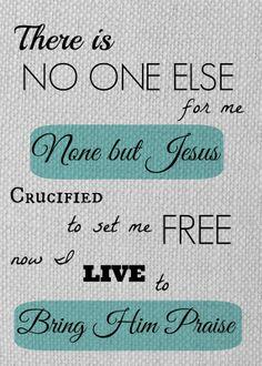 None but Jesus. Hillsong United. www.heartfelthullabaloo.com #worship #hillsong #iheartrevolution