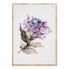Cool Tattoo Oriental and Japanese Fine Art - Customizable Gifts and Home Decoration from Zazzle: SOLD! - Cool oriental chinese classic watercolor flowers poster