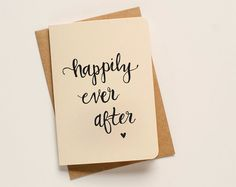 Happily Ever After Script Greeting Card by AnAprilIdea on Etsy, $5.00