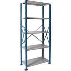 Hallowell H5710-1807PB H-Post High Capacity Shelving 48 in. W x 18 in. D x 87 in. H 5 Adj Shelves Open Style by Hallowell. $226.07. 5 Adjustable Shelves Starter Unit Open Style with Sway Braces.. Dimensions: 48 W x 18 D x 87 H.. Color: 707 Marine Blue Posts and Sides / 711 Platinum Backs and Shelves.. 1 Year Warranty.. Construction Material: Cold Rolled Sheet Steel.. Hallowell High Capacity H-Post Shelving is ideal when additional post strength is required and ...