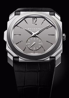 Bulgari unveils the Octo Finissimo Minute Repeater breaking a new record in the ultra-thin market. Bvlgari Diagono, Bvlgari Serpenti, Bvlgari Watches, Rolex Watches, Patek Philippe, Watch Companies, Watch Brands, Tag Heuer, Bvlgari Gold