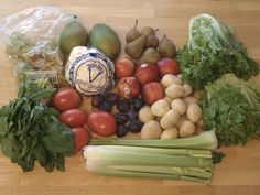 Produce co-op basket with some quirky sized items, plus why we love getting the baskets.  We also share here how buying 250 pounds of organic beef at a great price will save us a ton on meat.