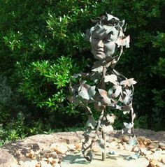 Bronze, beaten and welded copper Garden sculpture by artist Sioban Coppinger titled: 'Poets Muse Too'