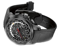 The new Traveller WW.TC Titanium DLC has a retail price of $18,300. The new version is lighter, because of the titanium case, and has a cool, all-black look because of the DLC coating.