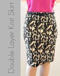Suburbs Mama: Double Layer Knit Skirt