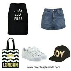 #outfit   #estate   #denim   #ragazza Segui  💖💖💖 www.diventasplendida.com 💖💖💖