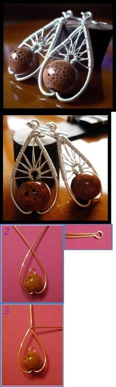 A different type of Tree of Life Wire Wrapped Earrings Tutorial