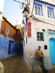"Fisheye lens. ""The Blue City""  Michelle Richards (Malaga Spring 1)  Chefchaouen, Morocco. #photoideas"