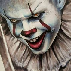 Pennywise Clown 2017 IT MovieI used Prismacolor Premier, KOI brush pen gray set, Copic markers, Sakura Pigma and red Posca! Scary Clown Drawing, Creepy Clown, Halloween Drawings, Horror Movie Tattoos, Horror Movies, Marvel Drawings, Disney Drawings, Horror Icons, Horror Art