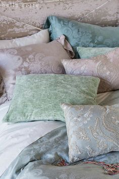 Our new collection of decorative pillows that blend perfectly with our palette. Isla, Camille, and Nina