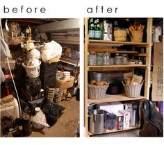 "DIY/Step-by-Step how to build basement shelves. via ""The Art of Doing Stuff"""