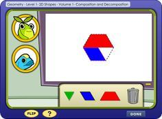 First Grade 2D Shapes Lesson- Composing and Decomposing Shapes