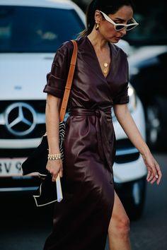 Nadire Atas on Wrap Dresses Street style at Copenhagen Fashion Week in Copenhagen, Denmark, on Thursday, August Photo by Adam Katz Sinding for W magazine. Erin Off Dury wearing Nanushka Fashion Mode, Fashion 2018, New Fashion, Autumn Fashion, Fashion Trends, Fashion Lookbook, Fall Fashion Week, Fashion Dresses, Fashion Stores