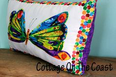 Purple Butterfly PillowMade With Very Hungry by CottageOnTheCoast, $15.00