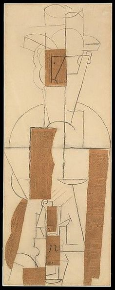 """Pablo Picasso (1881-1973), """"Man with a Hat and a Violin"""" - The Metropolitan Museum of Art ~ New York, New York, USA"""