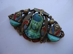 Art Deco Czech Egyptian Revival Max NEIGER Brooch-eBay