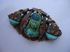 Art Deco Czech Egyptian Revival Max NEIGER Brooch