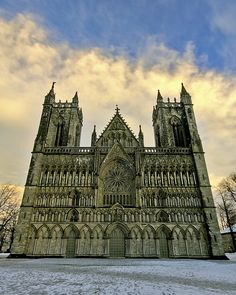 Nidaros Cathedral (Nidarosdomen) is  considered the most significant church of Norway, located in Trondheim, and est in 1152.
