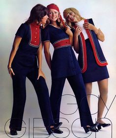 Colleen Corby, Joanne Vitelli & Randi Oakes (Gay Gibson Ad - 1971)