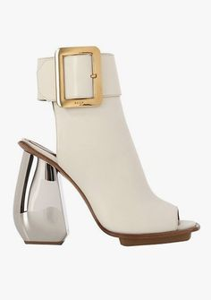 Shop for Janika Leather Sandal Boots by Bally at ShopStyle. Leather High Heel Boots, Leather Sandals, Shoe Boots, Shoes Heels, Square Toe Boots, It Goes On, Look Cool, At Least, Footwear