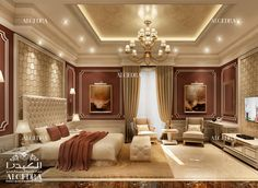 If done right, your master bedroom design can be a wonderful place. We at ALGEDRA offer master bedroom interior design services. Royal Bedroom, Master Bedroom Interior, Luxury Bedroom Design, Bedroom Furniture Design, Master Bedroom Design, Luxury Home Decor, Home Decor Bedroom, Luxury Interior, Master Bedrooms