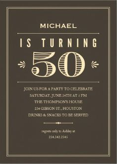 Classic Vintage Mens Birthday Invitations Classy And Covert 40th