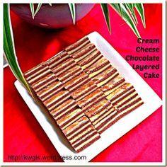 Cream Cheese Chocolate Lapis Cake   GUAI SHU SHU