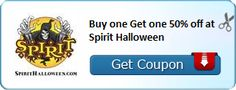 New Coupon!  Buy one Get one 50% off at Spirit Halloween - http://www.stacyssavings.com/new-coupon-buy-one-get-one-50-off-at-spirit-halloween-2/
