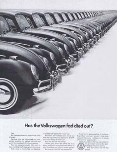 VW Volkswagen 1966 Beetle Has Fad Died Out - www.MadMenArt.com | Vintage Cars Advertisement. Features over 1200 of the finest vintage cars until 1970. Status symbol, pride and sense of freedom. #VintageCars #Vintage #Ads #VintageAds