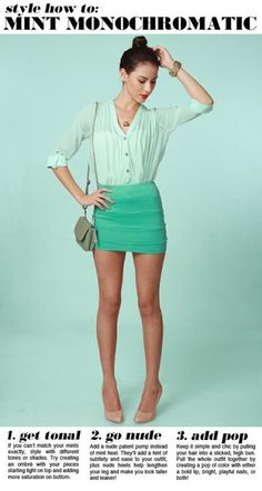 love the mint and nude!